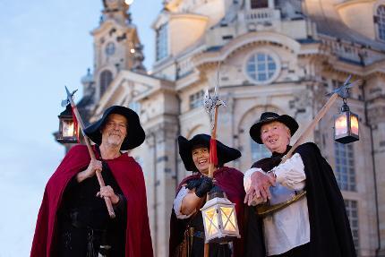 Große Nachtwächterführung in Dresdens Alt- und Neustadt