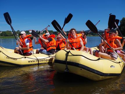 Fitness-Tour mit dem Schlauchboot