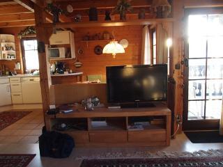 Ferienhaus Paul  Wohnraum mit TV-Flach 102 cm