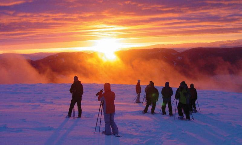 Schneeschuhwanderung: Zum Sonnenaufgang auf den Feldberg