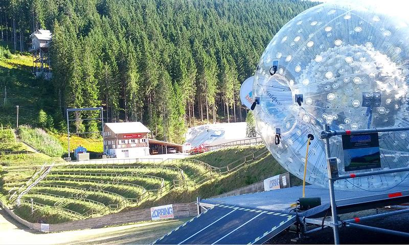 Downhill-Zorbing, Single-Ride