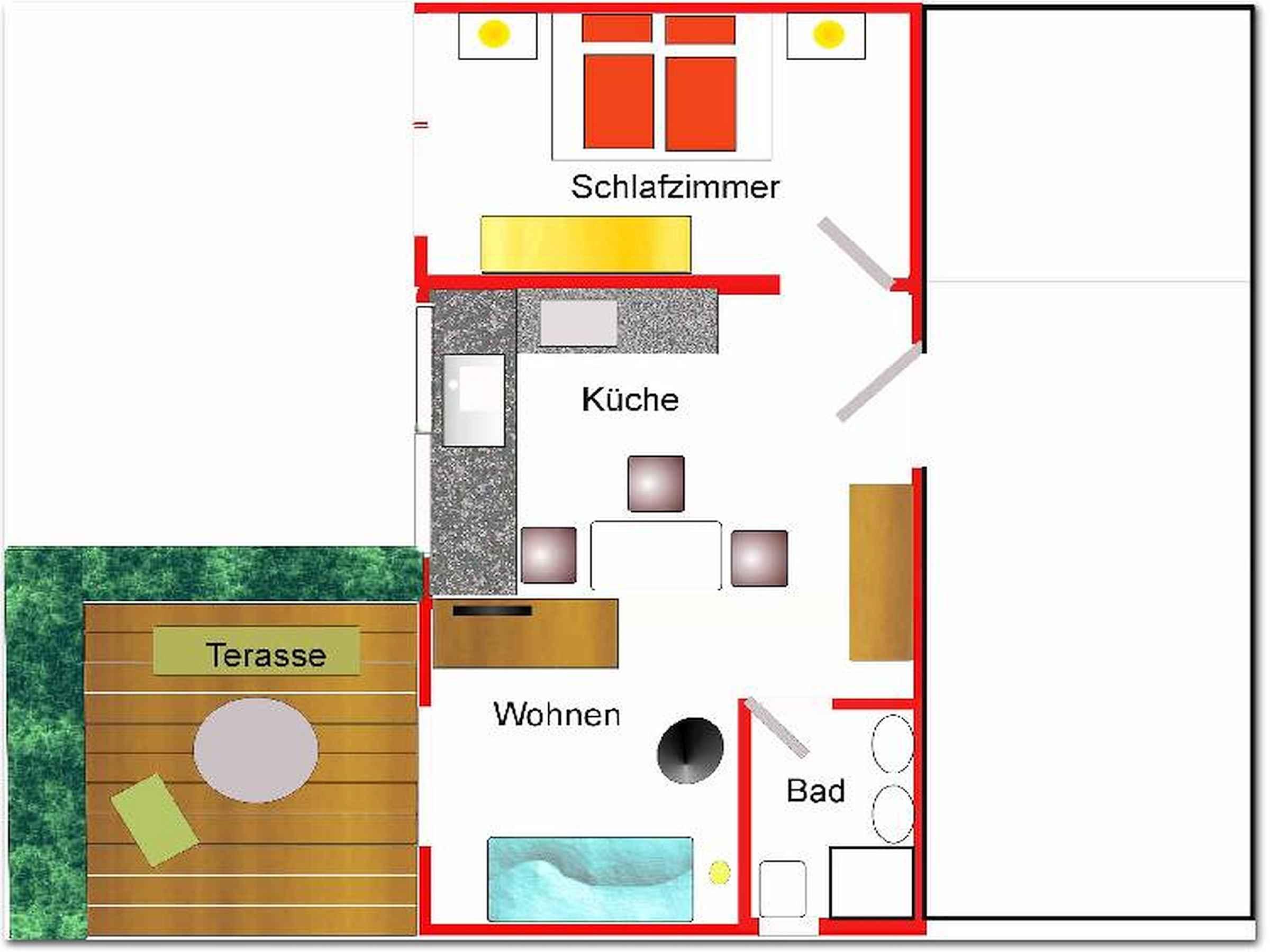 haus am wald m nstertal ferienwohnung 40qm 1. Black Bedroom Furniture Sets. Home Design Ideas