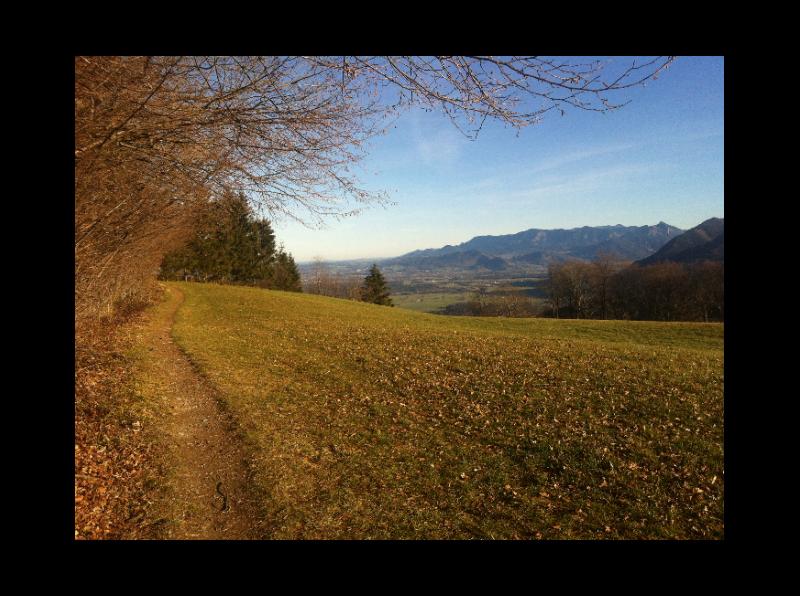Auf der Sonnenseite über Bad Feilnbach