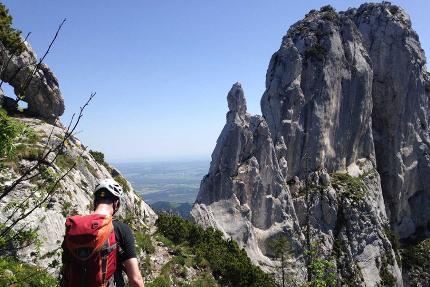 Klettern an der Kampenwand - Climb and Fly