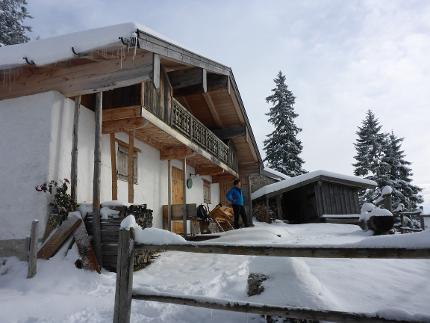 Schreckalm - erster Schnee Juche: mittelschwere Schneeschuhwanerung