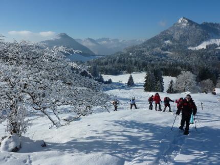 Grundkurs Schneeschuhgehen - Schneeschuhwochenende im Chiemgau