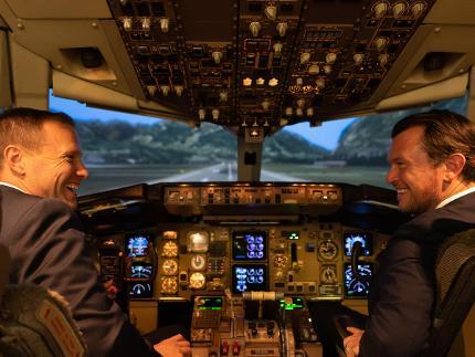 Cockpit-Simulatorflug