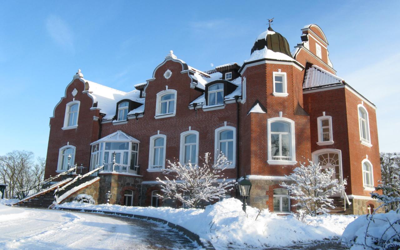 Schloss Herrenstein -Außenansicht Winter