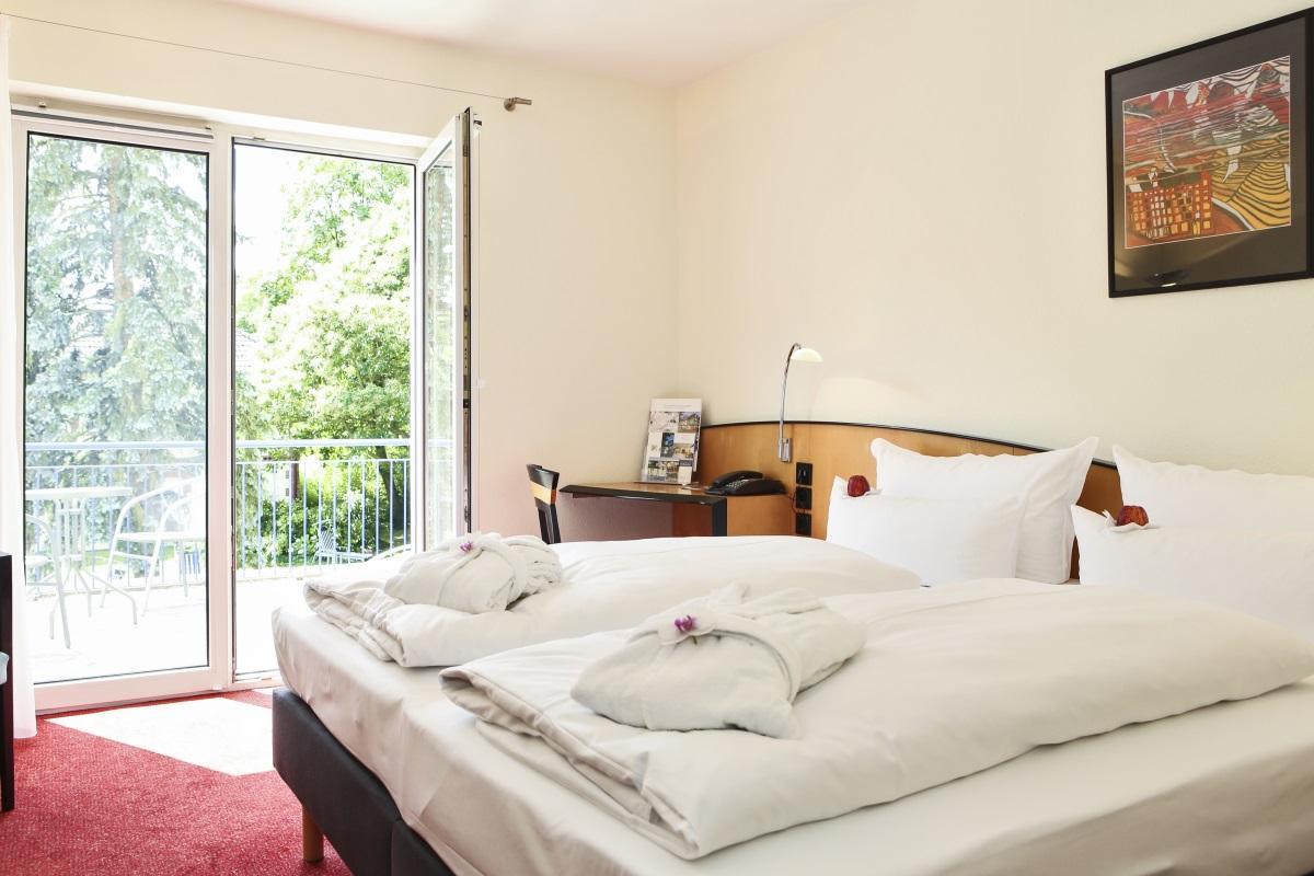 Wohnbeispiel Doppelzimmer mit Balkon