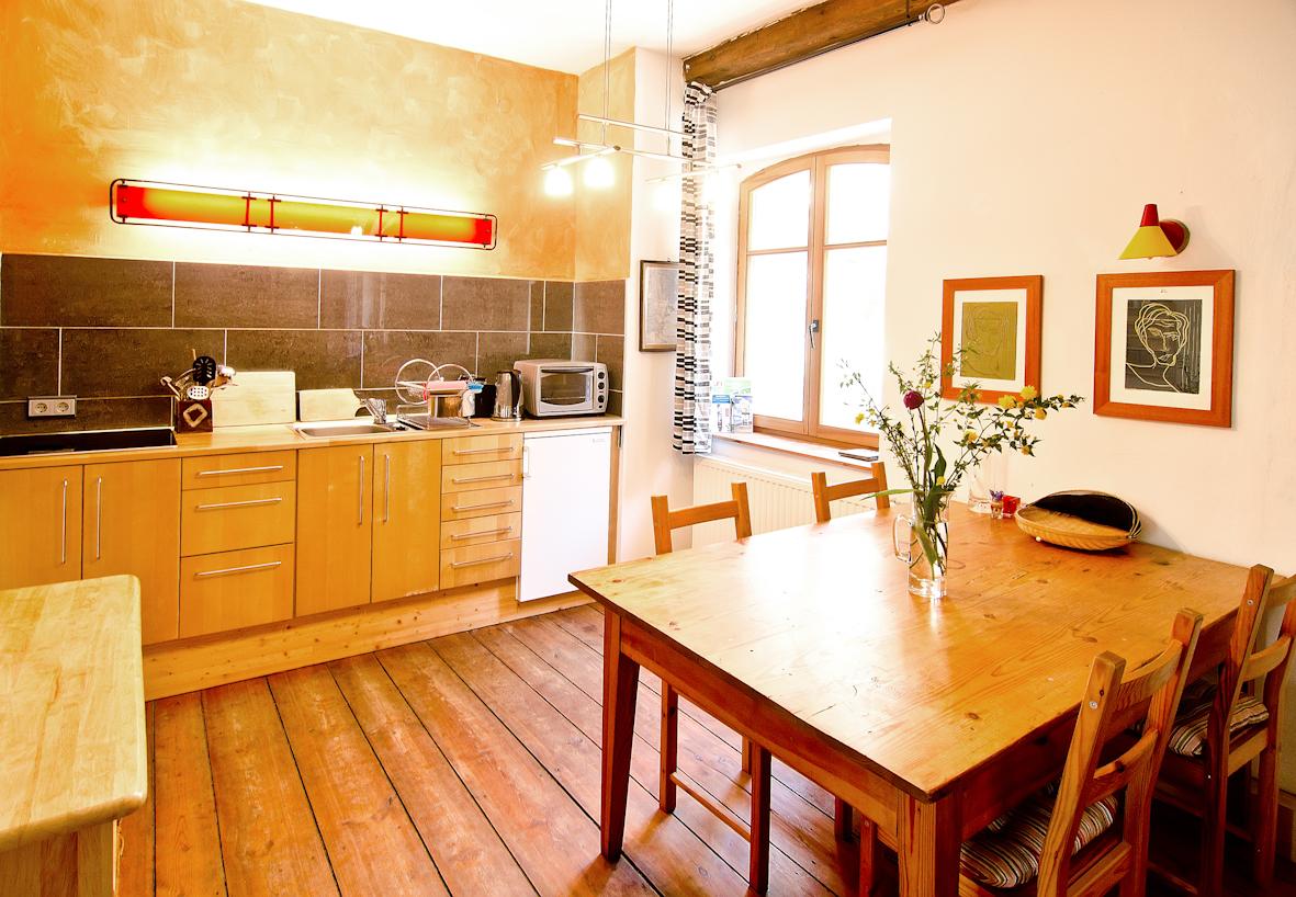 Alte Brennerei Haselberg - Ferienwohnung 2 Küche