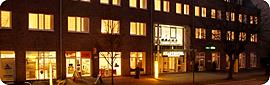Stadthotel am Abend