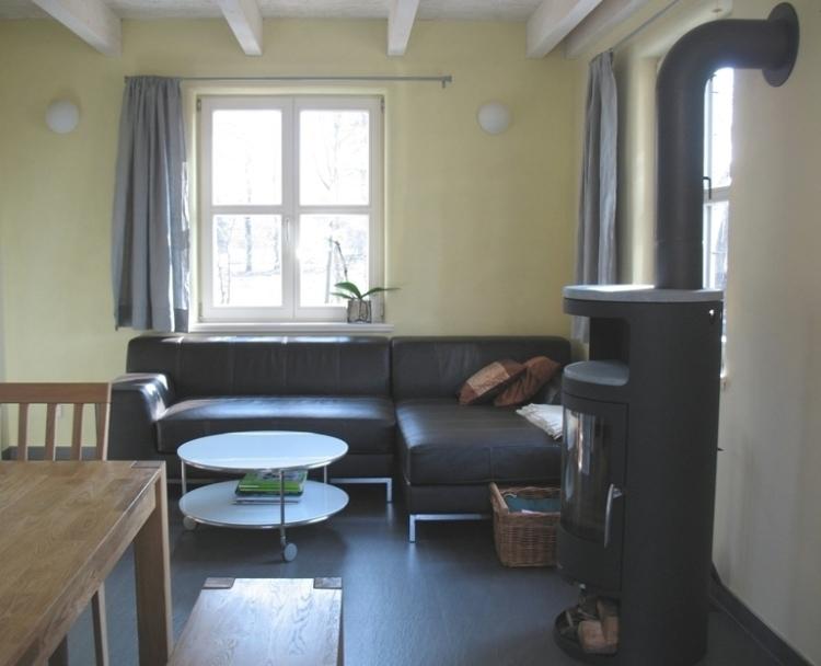 Weide-Kaminofen+Couch