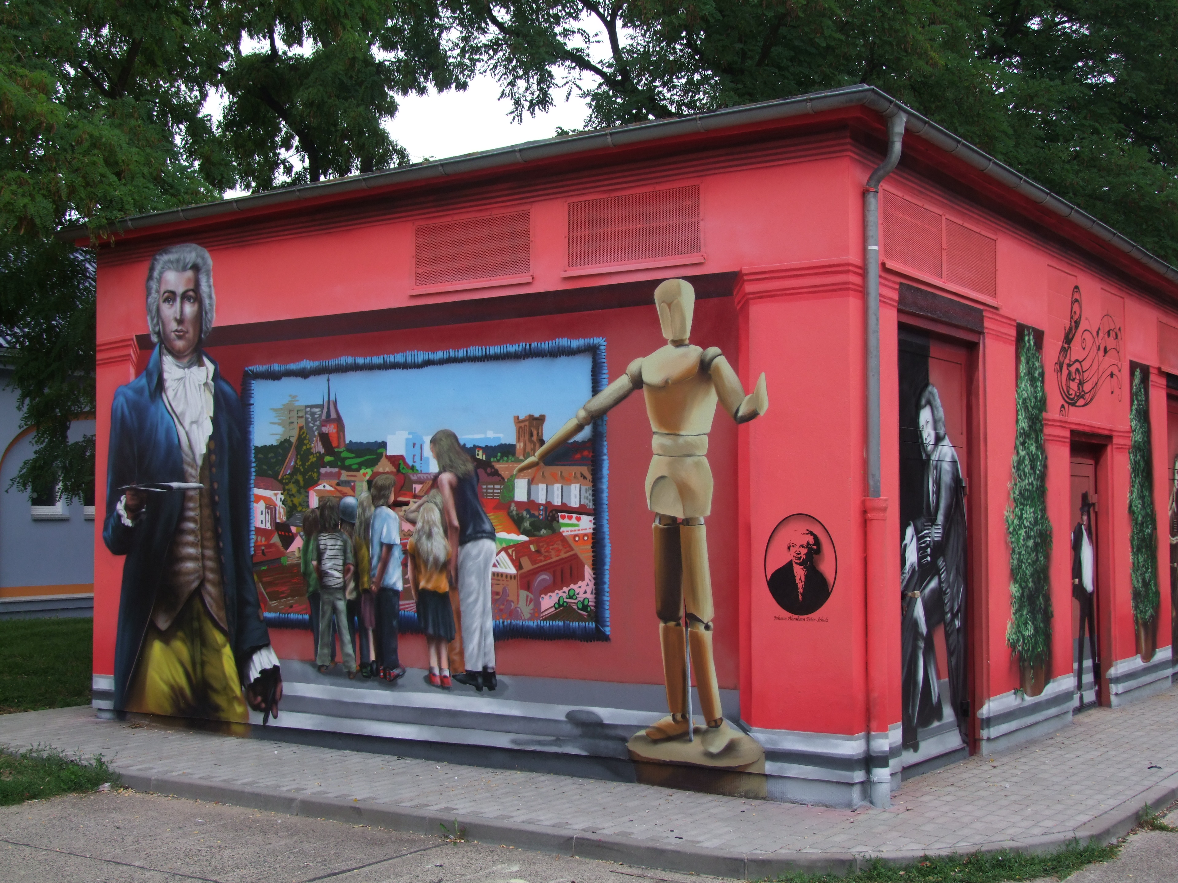 Fassadenmalerei in Schwedt