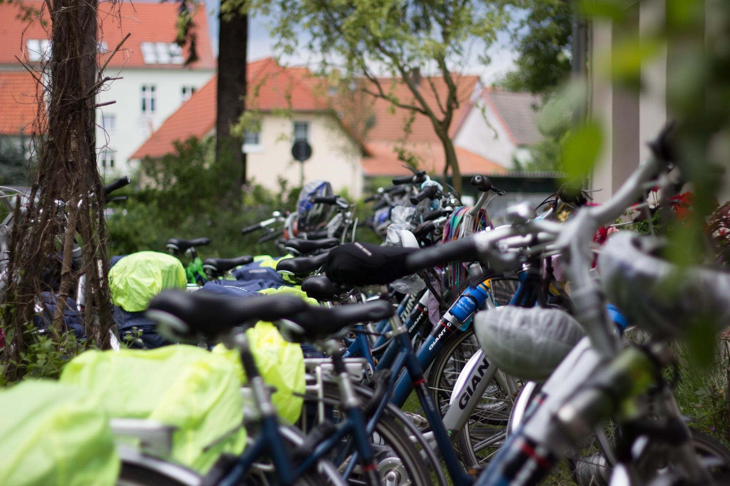 Fahrradparkplatz an der SchloßSchänke