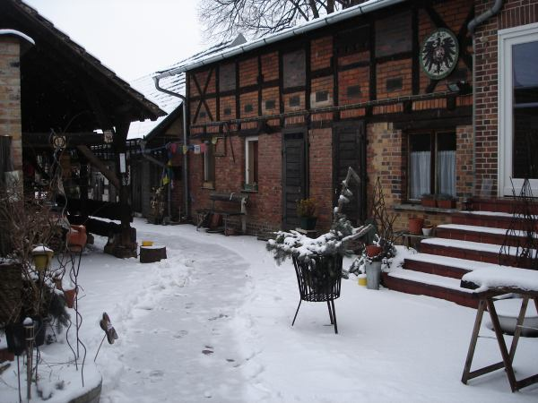 Innenhof im Winter
