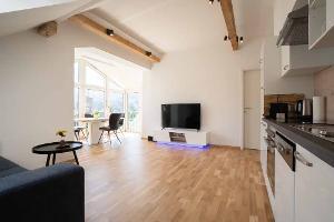 Wohnbereich im Dachgeschoss | © DreamRock