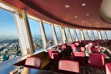 Berliner Fernsehturm - Restaurantticket Fenstertisch & Eintritt ohne Wartezeit - 12:30 Uhr - Erwachsener