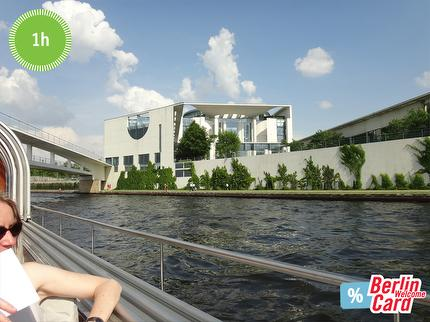 BWSG - City Spree Tour - City Spree River Cruise Berlin - 1 hour Tour - reduced ticket (Berlin WelcomeCard)