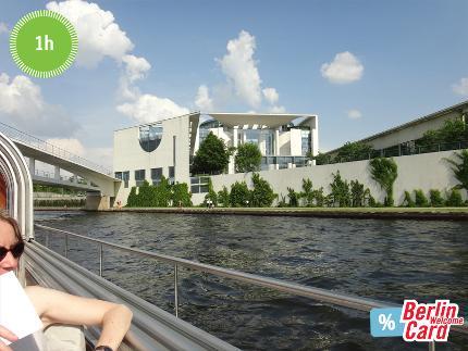 BWSG - City-Spreefahrt - Schiffsrundfahrt Berlin auf der Spree - 1 Stunde - Ticket ermäßigt (mit Berlin WelcomeCard)