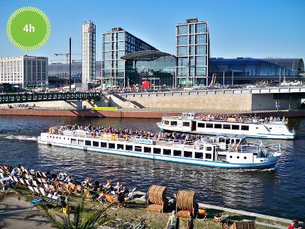 Stern und Kreisschiffahrt – Spreefahrt in die Innenstadt - Schiffstour - 4 Stunden - Ticket Erwachsene