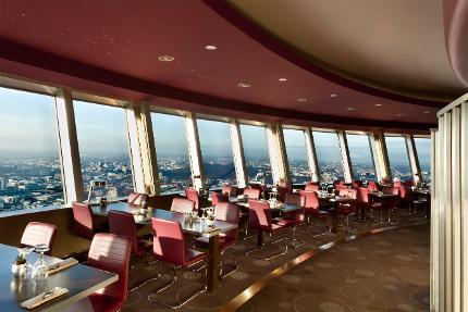 Berliner Fernsehturm - Restaurantticket Innenring & Eintritt ohne Wartezeit - 10:30 Uhr - Erwachsener