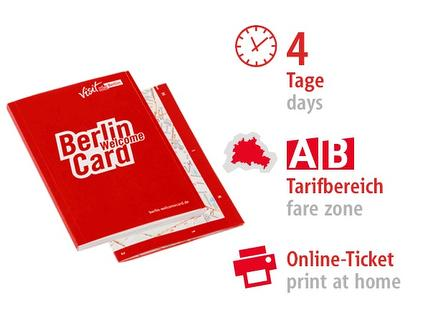 4 Tage AB | Berlin WelcomeCard 2017 | Online-Ticket