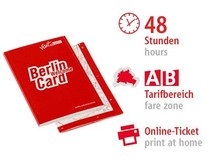48 Std. AB | Berlin WelcomeCard 2017 | Online-Ticket