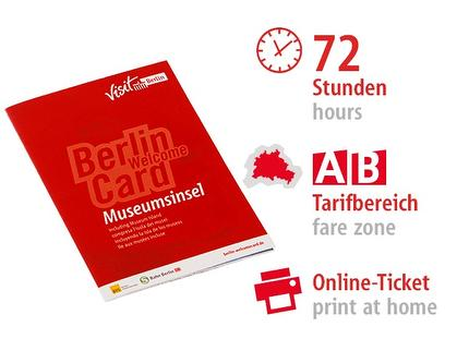 72 Std. AB | Berlin WelcomeCard Museumsinsel 2017 | Online-Ticket