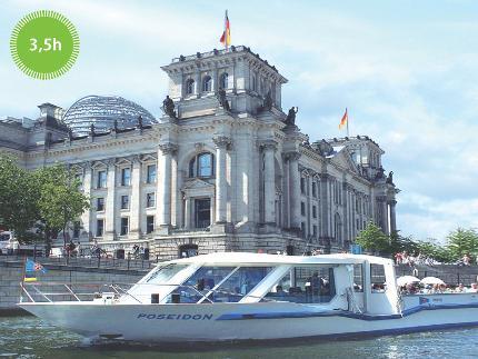 Stern und Kreisschiffahrt - Brückenfahrt Schiffstour - 3,5 Stunden - Ticket ermäßigt (0-5 Jahre)