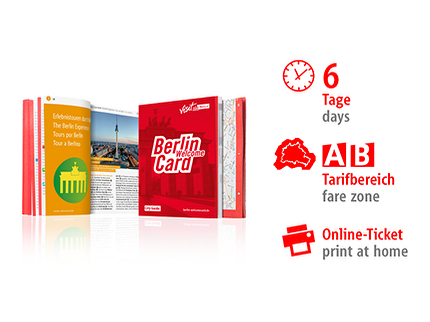 6 Tage AB | Berlin WelcomeCard 2018 | Online-Ticket