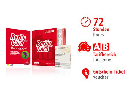 72 Std. AB | Berlin WelcomeCard Museumsinsel | Voucher