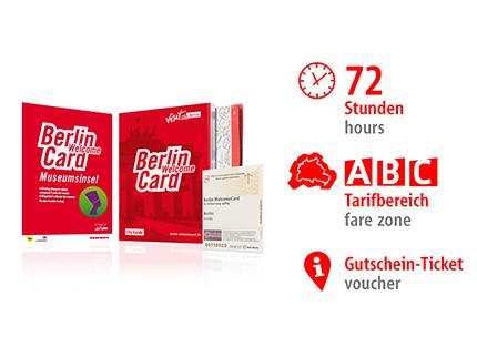 72 hrs ABC | Berlin WelcomeCard Museum Island | voucher