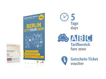 5 days ABC | Berlin CityTourCard | voucher