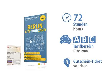 72 hrs ABC | Berlin CityTourCard 2019 | voucher