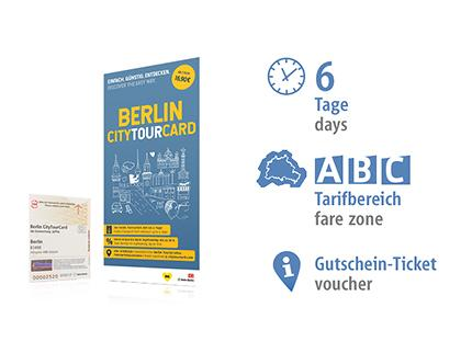 6 days ABC | Berlin CityTourCard | voucher