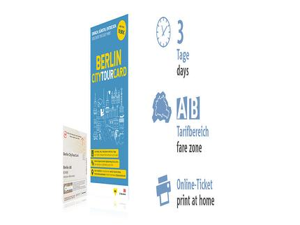 3 days AB |  Berlin CityTourCard | Online-Ticket