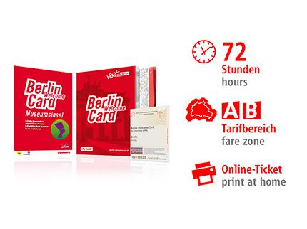 72hrs AB | Berlin WelcomeCard Museum Island | Online-Ticket