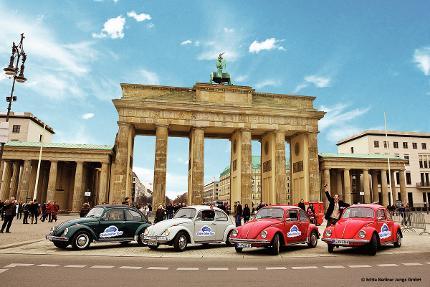 Oldie Käfer Tour Berlin - 4 Stunden Oldtimer mieten - 4 Personen inklusive - Sightseeing mal anders