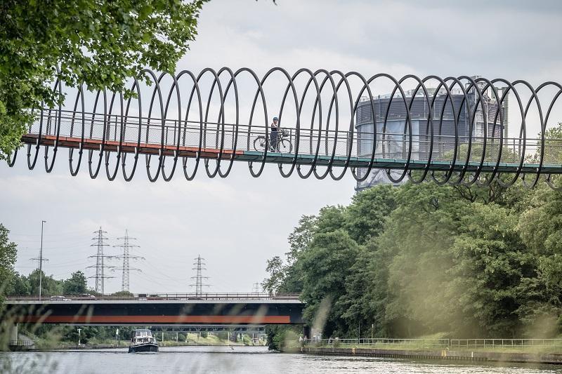 Rehberger Brücke Oberhausen / Urheber: Dennis Stratmann / Rechteinhaber: © radrevier.ruhr