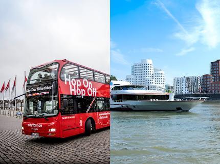 City Tour & Schiff Kind (4-13 J): 24-Stunden-Kombiticket HopOn HopOff