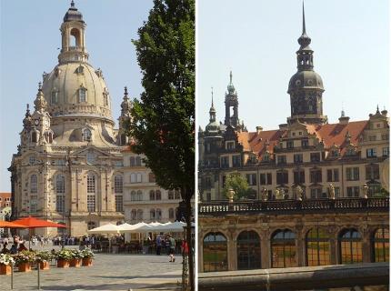 Alte und neue Glanzlichter Dresdens Tagesprogramm A: Altstadt- und Schlossführung incl. Neuem Grünen Gewölbe-10:30 Uhr