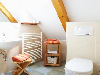Bad mit Dusche, WC und großem Spiegel / Urheber: Lutz Gerhardt / Rechteinhaber: © Lutz Gerhardt