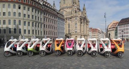 Rikschafahrt Altstadt Dresden - 60 Minuten