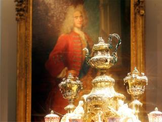 Dinglinger Saal mit dem Goldenen Kaffeezeug / Urheber: Foto: N. Millauer / Rechteinhaber: © Staatliche Kunstsammlungen Dresden, Grünes Gewölbe
