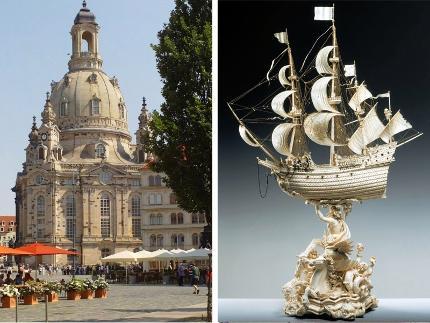 Alte und neue Glanzlichter Dresdens Programm C: Altstadtrundgang und Führung im Neuem Grünen Gewölbe - 10:30 Uhr