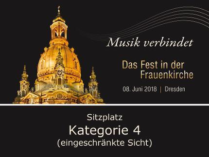 Europ. Kulturpreis Einzelticket Kategorie 4 (eingeschränkte Sicht)