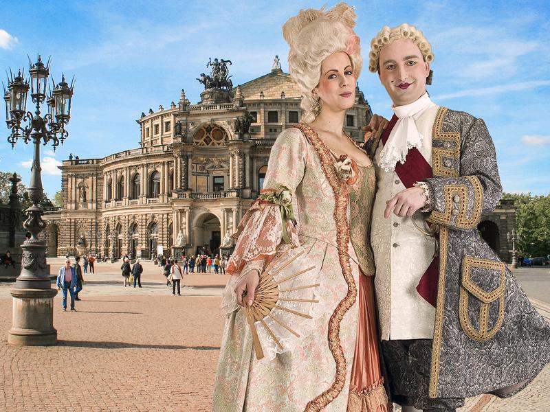 Graf und Gräfin Brühl / Urheber: Sylvio Dietrich / Rechteinhaber: © Barokkokko - Die Erlebnisagentur