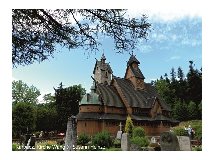 Polnisches Riesengebirge mit Kirche Wang & Lomnitzer Park