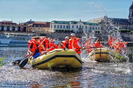 Fitness-Tour mit dem Schlauchboot - Kind(er) 4 - 13 Jahre (9:00 Uhr)