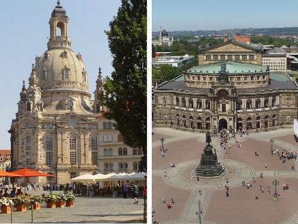 Alte und neue Glanzlichter Dresdens Programm B (Stadtführung & Führung Neues Grünes Gewölbe & Semperoper) - Familienticket